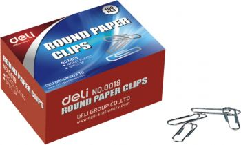 2000 Pack - 20 x 100 Pack Nickel Plated Paper Clips 29mm Office Clips School - Wholesale Bulk Lot Deal