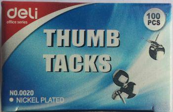 2000 Pack - 20 x 100 Pack Nickel Plated Thumbtacks / Thumb tacks - Wholesale Bulk Lot Deal