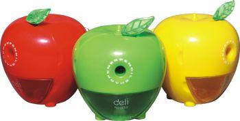 12 x Big Apple Shaped Desktop Rotary Pencil Sharpener - 3 Mix Colours Super Value - Wholesale Bulk Lot Deal