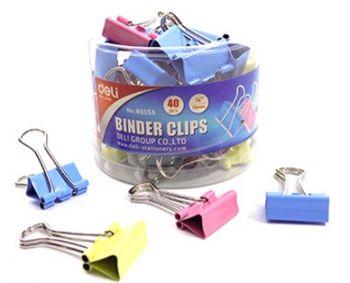 6 x 40 Pack Colour Bulldog / Fold back Clips 19mm in a tub - Wholesale Bulk Lot Deal