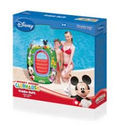 "2 x Licensed Disney Mickey & Minnie Mouse Clubhouse Inflatable Kiddie Raft 40"" x 27"" - Wholesale Bulk Lot Deal"