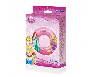 2 x Licensed Disney Princess Inflatable Swim Ring 56cm - Wholesale Bulk Lot Deal