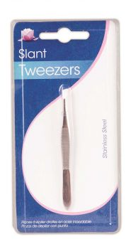 20 x Stainless Steel Slant Tweezers - Wholesale Bulk Lot Deal