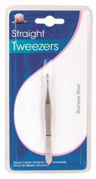20 x Stainless Steel Straight Tweezers - Wholesale Bulk Lot Deal
