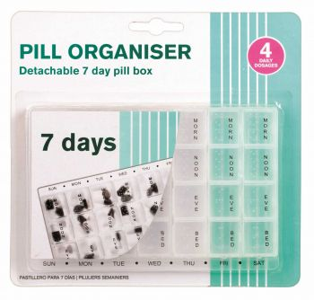 24 x PILL BOX ORGANISER 7 DAYS x 4 WEEKS - Wholesale Bulk Lot Deal