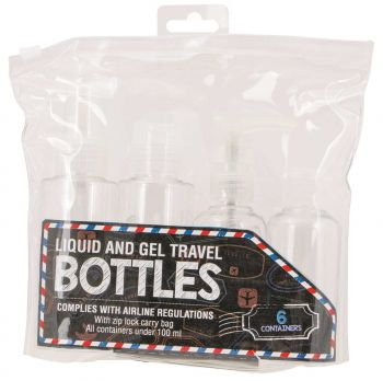 12 x Travel Bottle Containers 6 Piece set - Wholesale Bulk lot Deal