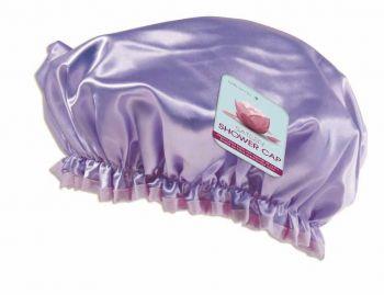 24 x Sateen Shower Caps 4 Assorted colours - Wholesale Bulk Lot Deals