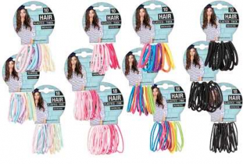 48 Pack x Hair Elastics Ouchless -  12 Assorted Packs - Wholesale Bulk Lot Deal