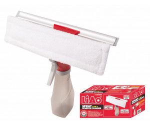 12 x 2-in-1 Window Spray cleaner with squeegee and mircofibre duster in a box - Wholesale Bulk Lot Deal