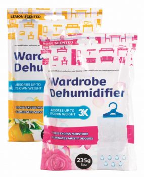 24 x SCENTED AIR DEHUMIDIFIER FOR WARDROBE 235G - 2 Assorted Fragrances - Wholesale Bulk Lot Deal