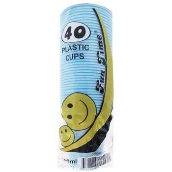 240 Pack - 6 x 40 Pack Baby Blue Cups Plastic Tumbler Glass 200mL - Super Value!