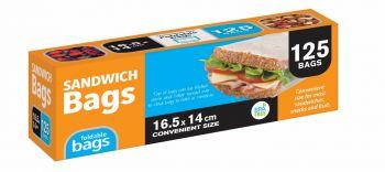 3000 Piece (24 x 125 Pack) Foldable Sandwich Bags 16.5cm x 14cm - Wholesale Bulk Lot Deal