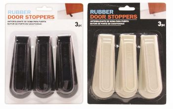 54 Piece (18 x 3 Pack) Rubber Door Stopper - Wholesale Bulk Lot Deals