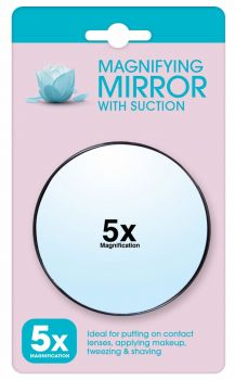 24 x MAGNIFYING MIRROR WITH SUCTION - MAGNIFIES 5X - Wholesale Bulk Lot Deals
