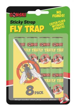 192 Pack (24 x 8 Pack) HANG UP STICKY FLY TRAP - Wholesale Bulk Lot Deals
