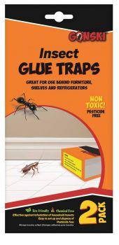48 Pack (24 x 2 Pack) Insect Glue Trap - Non-Toxic - Eco Friendly - Wholesale Bulk Lot Deals