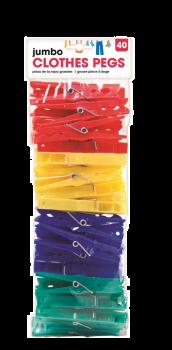 960 Piece (24 x 40 Pack) Jumbo Clothes Pegs - Wholesale Bulk Lot Deals - Super saver deal
