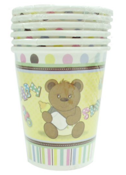 288 Pack (48 x 6 Pack) Baby Shower Theme Party Paper Cups 250mL - Wholesale Bulk Lot Deal
