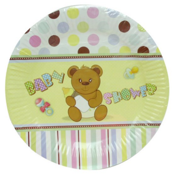 288 Pack (48 x 6 Pack) Baby Shower Theme Party Dinner Paper Plate 220mm - Wholesale Bulk lot deal