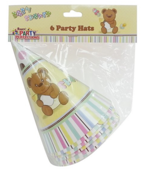 288 Pack (48 x 6 Pack) Baby Shower Theme Party Hat - Wholesale Bulk Lot Deal