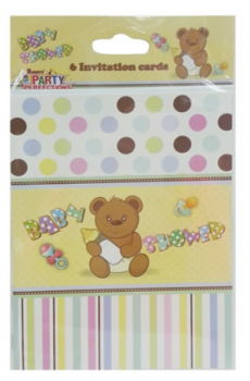288 Pack (48 x 6 Pack) Baby Shower Theme Party Invitation Cards with Envelopes - Wholesale Bulk Lot Deal