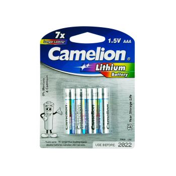 4 Pack Camelion AAA Lithium Battery Longer Lasting! Upto 15 Years storage life