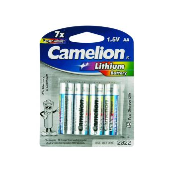 4 Pack Camelion AA Lithium Battery Longer Lasting! Upto 15 Years storage life
