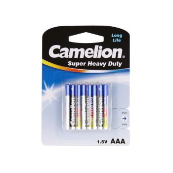 48 Pack - 12 x 4 Pack Camelion AAA 4 Pack Super Heavy Duty Battery - Wholesale Deals!