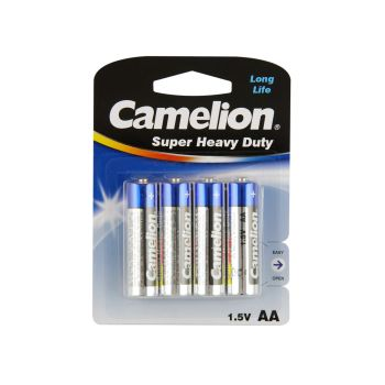 48 Pack - 12 x 4 Pack Camelion AA 4 Pack Super Heavy Duty Battery - Wholesale Deal!