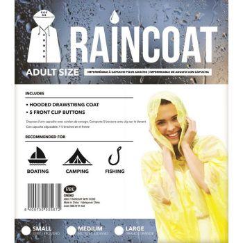 24 x Adult size Raincoat with Hood  - 3 Assorted Sizes - Wholesale Bulk Lot Deal
