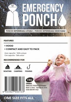 24 x Emergency Poncho - Wholesale Bulk Lot Deal
