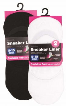 40 Pairs (20 x 2 Pack) WOMEN SNEAKER FOOT LINER - ALL DAY COMFORT - Wholesale Bulk Lot Deal