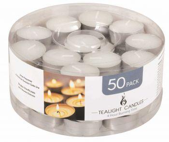 1000 Piece (20 x 50 Pack) Unscented Tea Light Candles 14g - Wholesale Bulk Lot Deals