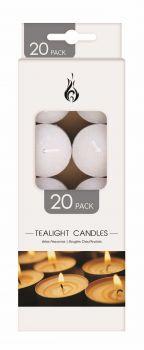 500 Piece (25 x 20 Pack) Unscented Tea Light Candles 14g - Wholesale Bulk Lot Deals
