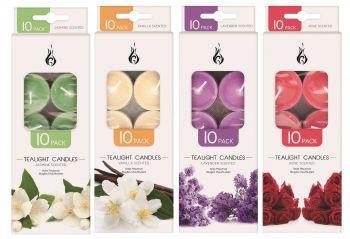 240 Piece (24 x 10 Pack) Scented Tea Light Candles 14g - Assorted Fragrances - Wholesale Bulk Lot Deals