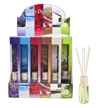 24 x Diffuser 50ml in PDQ display - 6 Assorted Fragrances - Wholesale Bulk Lot Deal
