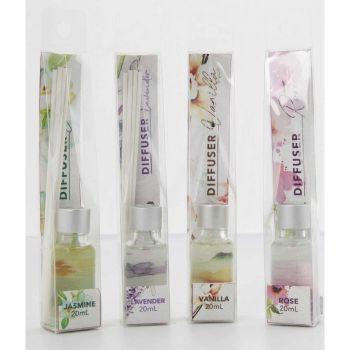 24 x Diffuser 20ml - 4 Assorted Fragrances - Wholesale Bulk Lot Deal