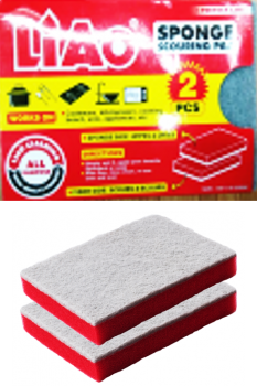 48 Pack ( 24 x 2 Pack ) Non Scratch Scouring Pad & Sponge - Double sided 11 x 16 x 2.5cm - Wholesale Bulk Lot Deal