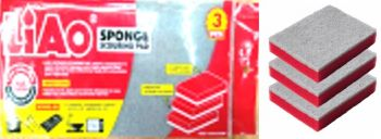 72 Pack ( 24 x 3 Pack ) Non Scratch Scouring & Sponge 13x9.5x2.5cm - Wholesale Bulk Lot Deal