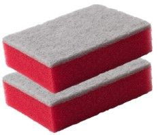 48 Pack ( 24 x 2 Pack ) Sponge Scouring Pad Size:10x7x3.5cm - Wholesale Bulk Lot Deal