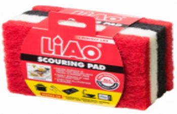 96 Pack ( 24 x 4 Pack ) Scouring Pad Size:15x10x1.5cm - Wholesale Bulk Lot Deal
