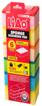 240 Pack ( 24 x 10 Pack ) Sponge Scouring Pad Size:11x7x4cm - Wholesale Bulk Lot Deal