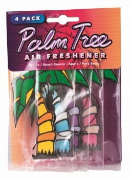 96 PACK (24 x 4 PACK) PALM TREE AIR FRESHENERS - WHOLESALE BULK LOT DEALS