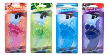 30 x Car Air Freshener Hanging PVC Foot - Assorted Colours - Wholesale Bulk Lot Deal