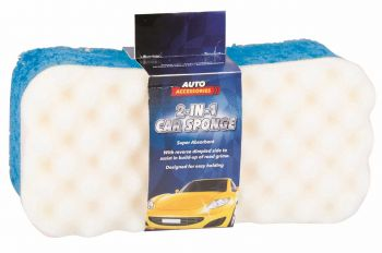 24 x 2-in-1 CAR SPONGE - Wholesale Bulk Lot Deal