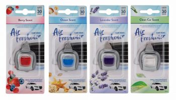 24 x CAR VENT AIR FRESHENER - 4 ASSORTED - WHOLESALE BULK LOT DEALS