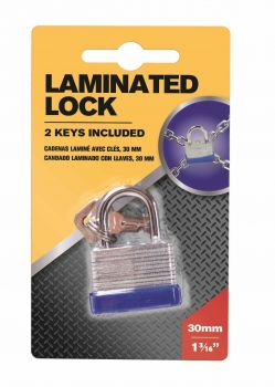 12 x Laminated Steel Padlock 30mm with keys - Wholesale Bulk Lot Deals