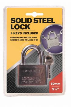 12 x Solid Steel Padlock 60mm with keys - Wholesale Bulk Lot Deals
