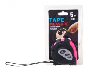 12 x TAPE MEASURE WITH RUBBER GRIP FLUORESCENT 5m - Wholesale Bulk Lot Deals