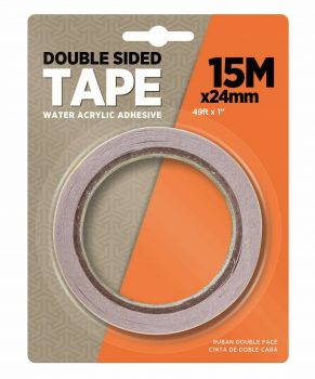 24 x Double Side Tissue Tape 24mm x 15m - Wholesale Bulk Lot Deals